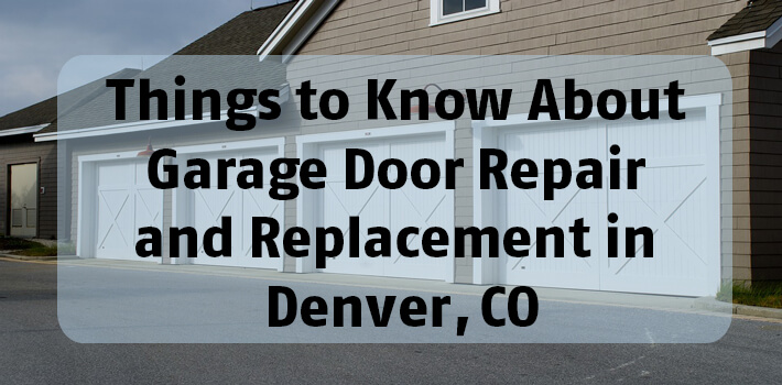 Superbe Things To Know About Garage Door Repair And Replacement In Denver, CO